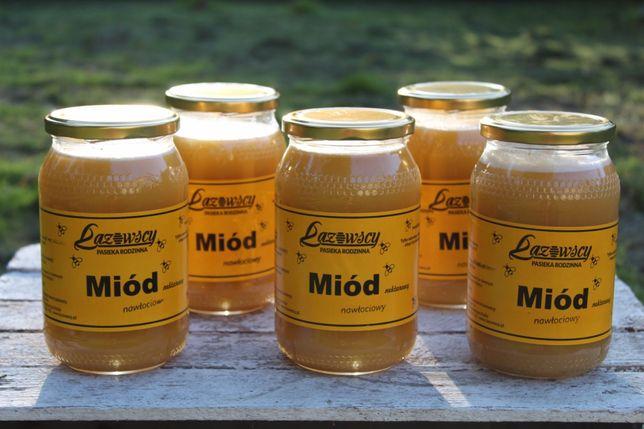 Sprzedam miód pszczeli nawłociowy 0.9L 1.20kg Pasieka Łazowscy
