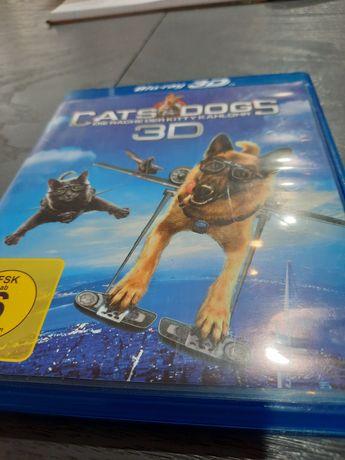 Blu-ray 3D i 2D Cats & Dogs jezyk angielski,niemiecki,francuski i inne