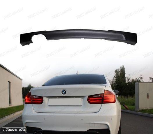 DIFUSOR TRASEIRO LOOK PACK M DUPLA SAIDA ESQUERDA BMW SERIE 3 F30 / F31