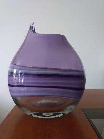 Jarra vidro roxa decoração