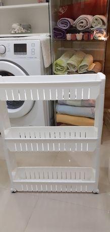 Regał  łazienkowy  na kółkach