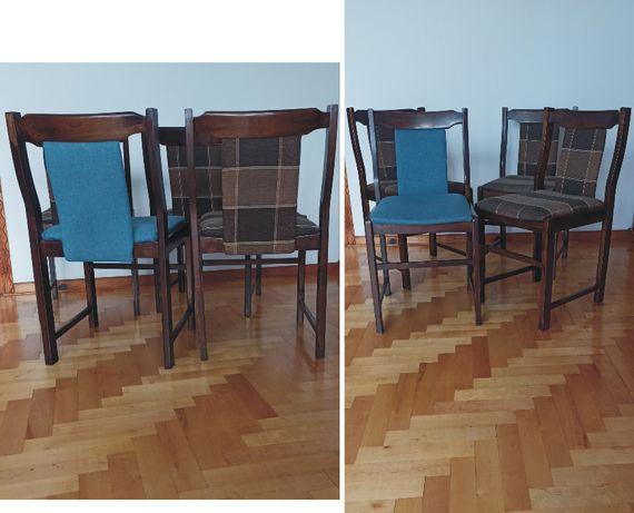 drewniane krzesła 4 sztuki