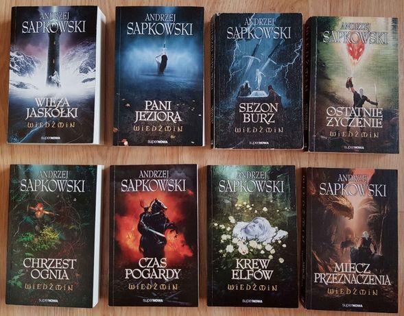 Wiedźmin, Andrzej Sapkowski, komplet 8 tomów
