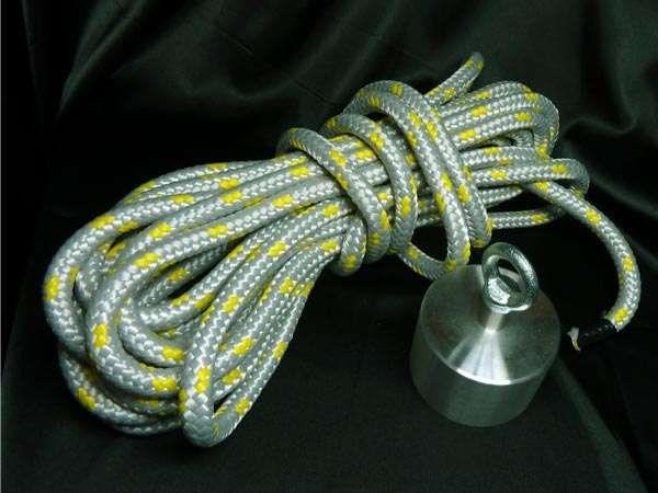Magnes z liną do łowienia w wodzie UM 65x45 udźwig ~ 230 KG
