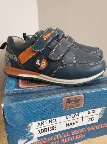 Skórzane buty dla chłopca, nowe, nieużywane, rozm. 26 wkładka 16,8cm