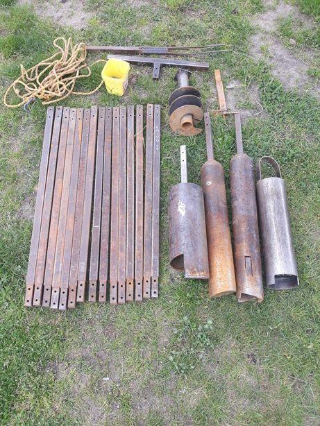Zestaw wiertniczy do wiercenia studni studnia abisynka 180mm 15 metrow