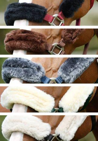 Zestaw futerek dla konia, futerko naturalne wełna z merynosa