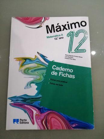 Caderno de Fichas Máximo Matemática A 12Ano Porto Editora