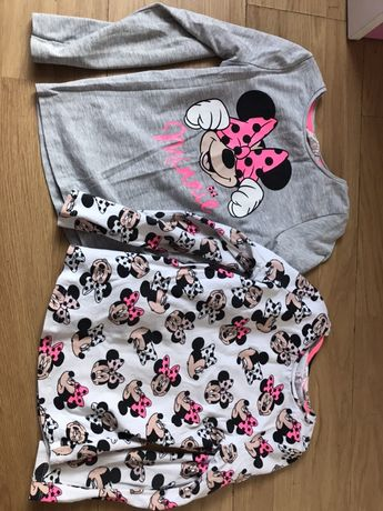 H&m dwupack bluzek Minnie 110/116 neonowe