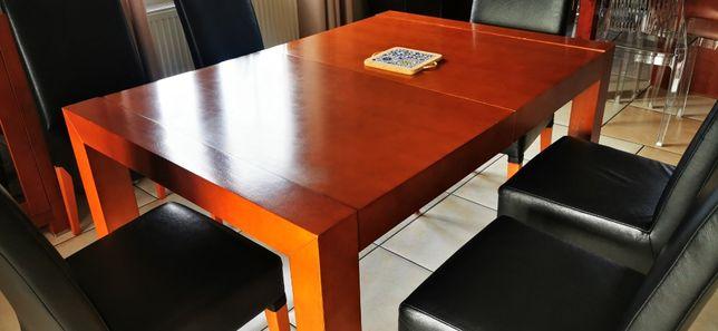 stół drewniany fornirowany do jadalni rozkładany