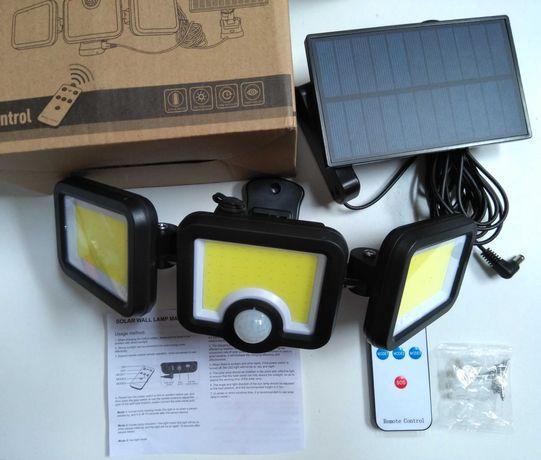 Candeeiro Led, painel solar, sensor de movimento.