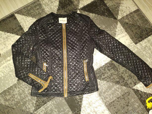 Ramoneska kurtka  XS ,czarna ,brązowe wstawki