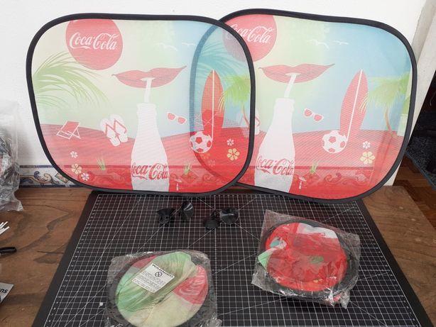 Proteção para vidro de carro. Parasol janela crianças. Coca-Cola