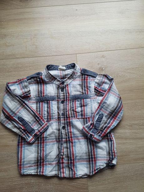 Koszula na długi rękaw r. 80 H&M