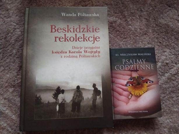 """Książki """"Beskidzie rekolekcje"""" Półtawska i Psalmy codzienne"""