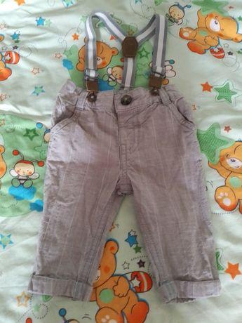 Детская одежда джинсы с подтяжками