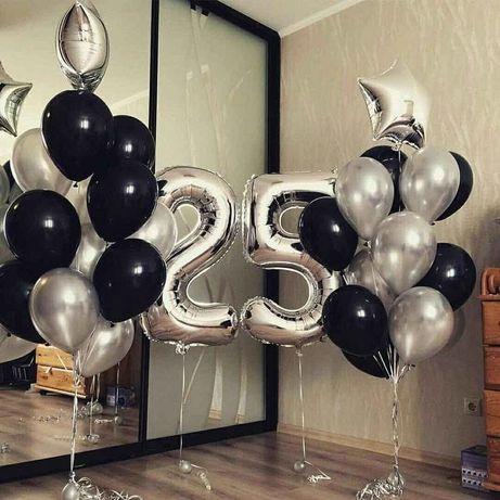 Надувные цифры 25 шарики бесплатная доставка