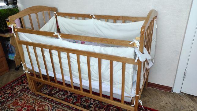 Дитяче ліжко 0-4 роки+матрас+постіль