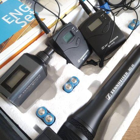 Радиомикрофон петличка Sennheiser + репортерский  микрофон