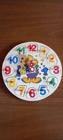 Układanka zegar edukacyjny kreatywny klocki puzzle