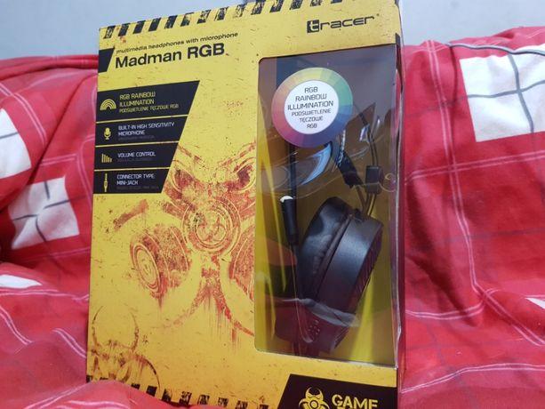 Słuchawki MadMan RGB Headset Słuchawki z mikrofonem GameZone Tracer