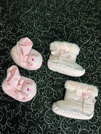 Угги для новорожденных, Пинетки сапожки на новорожденного 0-6 мес