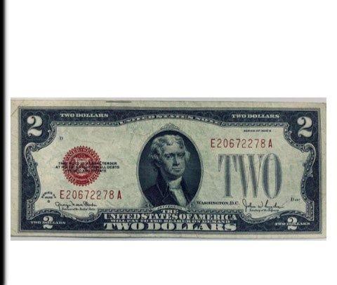 2 доллара США  1928 года TWO DOLLARS