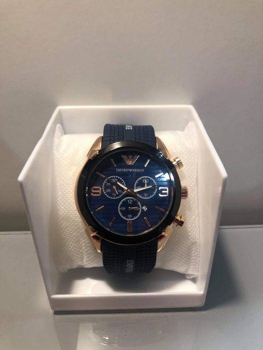 PROMOCJA !!Piękny zegarek Emporio Armani czarny/granatowy! Gdynia - image 1