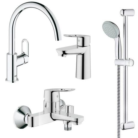 Набор смесителей для ванны + кухня 4 в 1 Grohe BauLoop 123225K