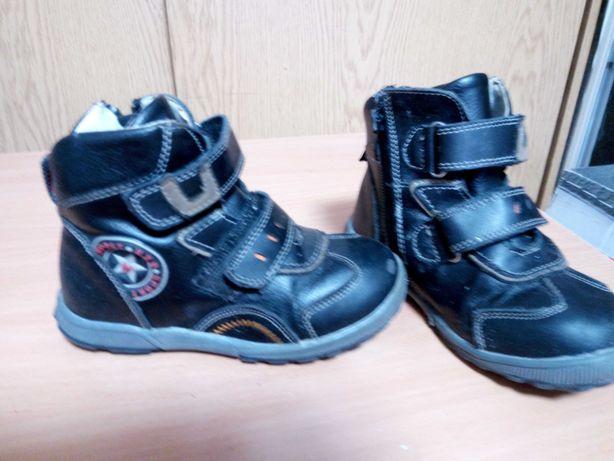 Кожаная демисезонная детская обувь Размер 27,28,31