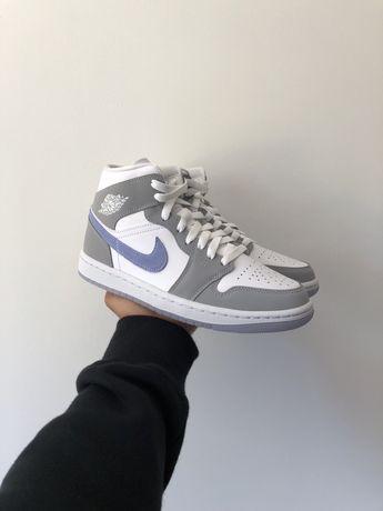 Jordan 1 Mid Wolf Grey Aluminium