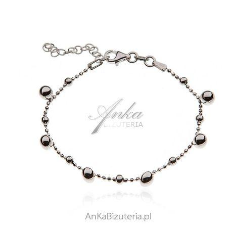 ankabizuteria.pl pierścionek z kryształkami srebrny Srebrna bransoleka