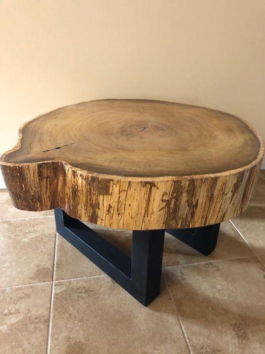 Stolik dębowy plaster 95 cm grubosc 17cm nowoczesny Piła - image 1