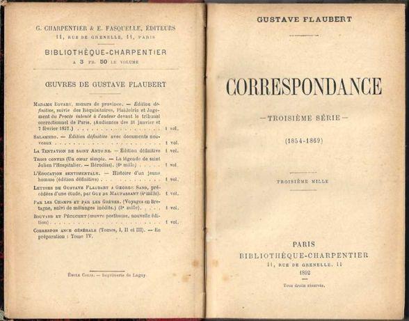 Correspondance – Troisième série (1854.1869) Gustave Flaubert