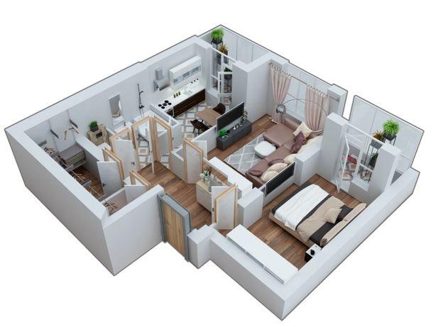 2-комнатная квартира 60,9 м2 от застройщика, ЖК Марсель