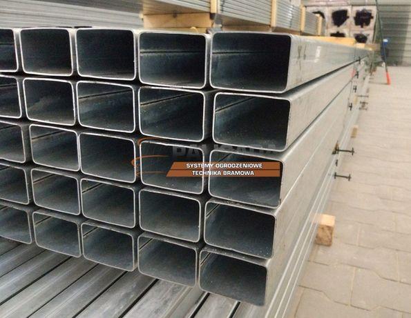 PROFIL, PROFILE OCYNKOWANE 60x40 x 2 mm - słupek ocynkowany - 6X4CM