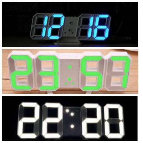 Электронные настольные настенные LED часы 2218 термометр календарь