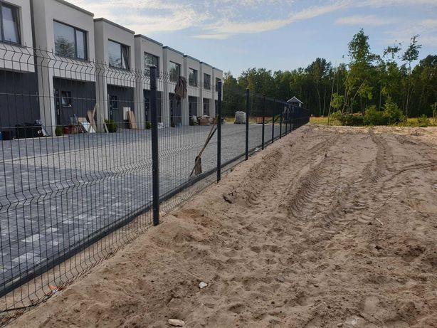 Ogrodzenie panelowe panel podmurówka-beton-montaż/ 88 zł z montażem mb
