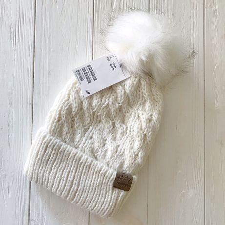 Зимняя зимова демісезонна демисезонная шапочка шапка для девочки H&M