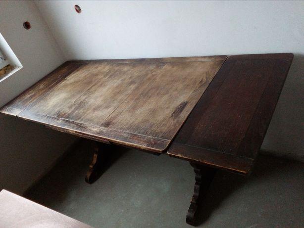 Stół drewniany wiekowy rozkładany