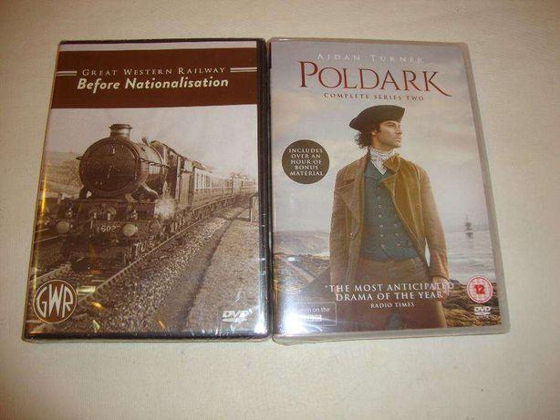 DVD Comboios do passado e Serie 2 de Poldark (Novos Selados)