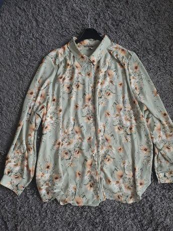 Koszula boho kwiaty łąka H&M
