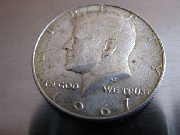 USA 50 cent, Half Dollar Kennedy 1967 Srebro