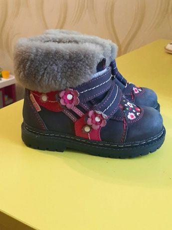 Зимние ботинки для девочки 24 розмір