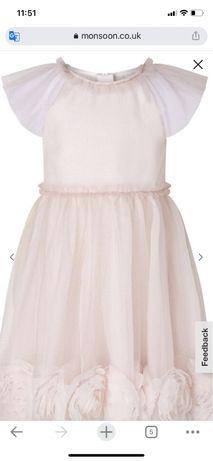 Нарядное платье для девочки, рост 116-122
