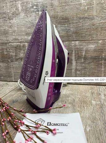 Утюг domotec 2200w керамическая подошва антипригарное покрытие