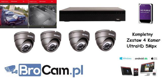 Zestaw 4-16 kamer 5mpx UltraHD montaż monitoringu kamer Lublin Kamery