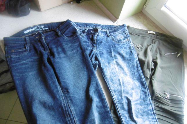 spodnie jeansowe rozm.146 (3 pary)