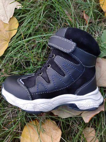 Зимние ботинки натуральная кожа и натуральный мех средние размеры