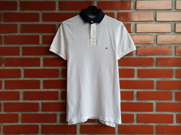 Tommy Hilfiger мужская белая футболка поло размер S Томми Хилфигер Б У